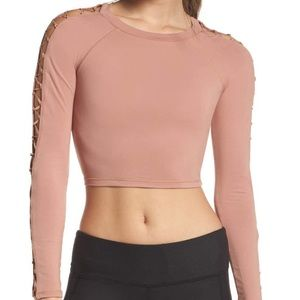 NWT Alo Yoga Highline crop top size M